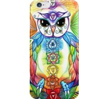Chakra Owl by Sheridon Rayment iPhone Case/Skin