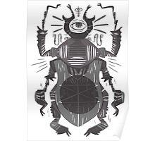 Eye of the Gods - Beetle Three - grey Poster