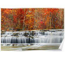 Autumn at Upper Cataract Falls Poster