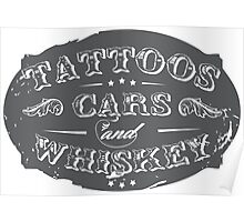 Voodoo Designs - Tattoos Cars & Whiskey Poster