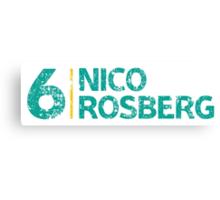 Mercedes F1 Driver: Nico Rosberg #6 Canvas Print