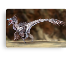 Velociraptor Reconstruction Canvas Print