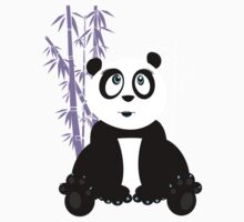 Panda Girl - Purple Kids Clothes