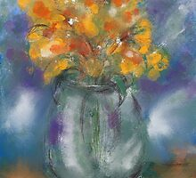 Orange splash by Janette  Leeds