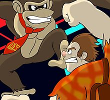 Donkey Kong vs Wreck-It Ralph by NoDiceMike