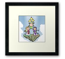 Between two derps Framed Print