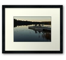Empty - Reflecting on Sunset Serenity Framed Print