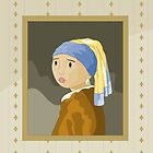 Girl with pearl by Vermeer by alapapaju