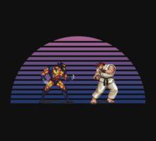 Wolverine v Ryu by Jackson Chung