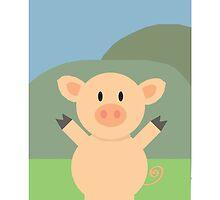 Pig On The Farm by JoshCooper