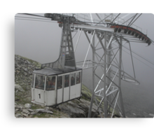 WERE EAGLES FLY,WE ARRIVED TOO - This is our cable car -ITALY - EUROPA- VETRINA RB EXPLORE 25 SETTEMBRE 2013 -                         A Canvas Print