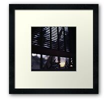 Beach house window at dawn Ibiza Spain square Hasselblad medium format film analog photographer Framed Print
