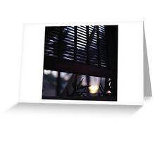 Beach house window at dawn Ibiza Spain square Hasselblad medium format film analog photographer Greeting Card