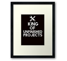 The king of unfinished projects Framed Print