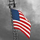 American Flag in Stormy Weather - iPhone Case by Buckwhite