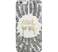 Treat Yo Self – Gold & Grey iPhone Case/Skin