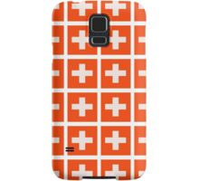 Swiss flag pattern which makes your eyes go squiffy Samsung Galaxy Case/Skin