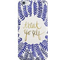 Treat Yo Self – Gold & Navy iPhone Case/Skin