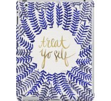 Treat Yo Self – Gold & Navy iPad Case/Skin