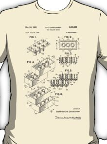 Lego Toy Building Brick Patent  T-Shirt