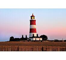 Happisburgh lighthouse shining Photographic Print
