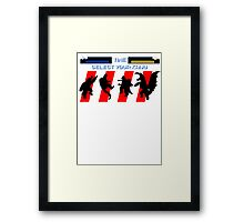 Select your Kaiju (Silhouettes) Framed Print