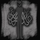 Spooky Slender Man with Tentacles by Greenbaby