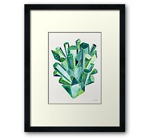 Emerald Watercolor Framed Print