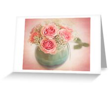 Beautiful bouquet of roses Greeting Card