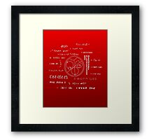 Love letter to a geek Framed Print