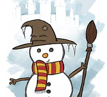 Gryffindor Christmas Card  by Jess Nixon