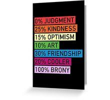 100% BRONY Greeting Card
