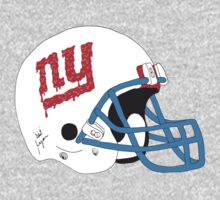 NY Giants Helmet Drips by Ryanopena
