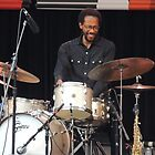 Brian Blade Happy Drummer by Sandra Gray