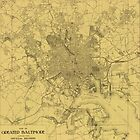 Vintage Baltimore Map 1919 by AndrewFare
