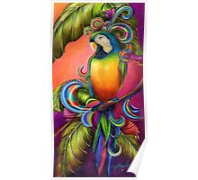 Paradise Paisley Parrot Poster
