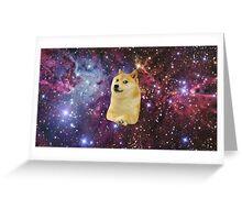 doge space skins Greeting Card