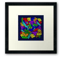 Tetris Pile Framed Print