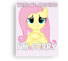 Fluttershy is Sorry Canvas Print