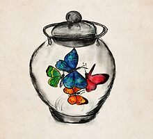 Jar of Butterflies by Daniel Watts