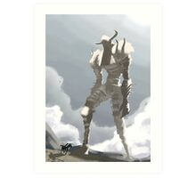 Shadow of the colossus inspired painting Art Print