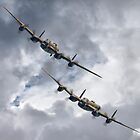 The 2 Lancasters Eastbourne Airshow by Colin J Williams Photography
