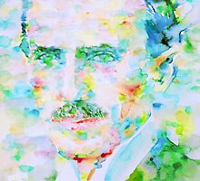NIKOLA TESLA watercolor portrait by lautir