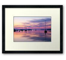 Sunrise in Mahone Bay, NS Framed Print