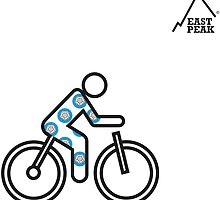East Peak Apparel - 2015 Tour of Yorkshire Cycling T-Shirt by springwoodbooks