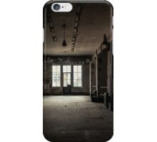 Dark and abandoned interior of a power plant iPhone Case/Skin