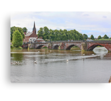 The River Dee from the Groves Chester Canvas Print