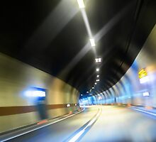Abstract photo of motion in the tunnel by iWorkAlone