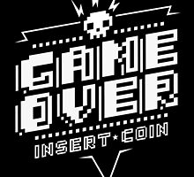 Game Over (White) by DemonigoteTees