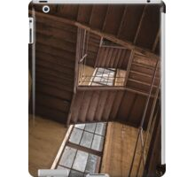 Industrial staircase going up to the tower iPad Case/Skin